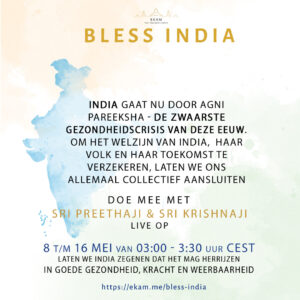 BLESS INDIA – 8 t/m 16 Mei!